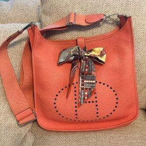 Hermes Crevette Clemence Evelyne III 3 GM Bag